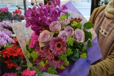 紫系の花束~天草市…